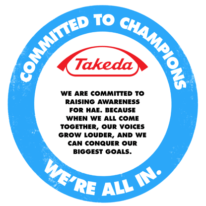 Takeda is committed to champions. We're all in.