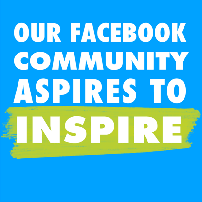 Our Facebook community aspires to inspire. Join the convo.