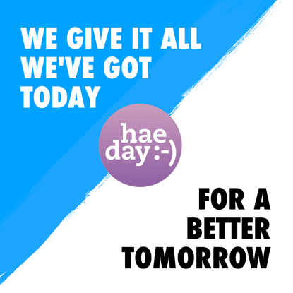 We give it all we've got today for a better tomorrow.