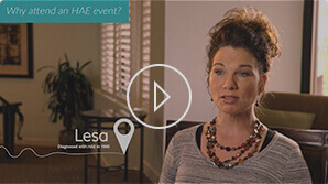 Lesa is thankful that she attended a Shire event.